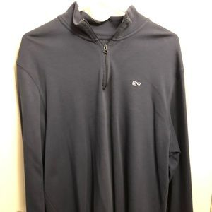 Vineyard Vines - Navy Quarter zip (Large)